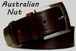 38mm Australian Nut Handmade English Bridle Leather Belt With Buckle - made in England by Bucklebox